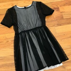 Omami Mini Black Mesh Dress size 4